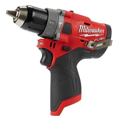 Milwaukee 2504-20 M12 FUEL 12-Volt Brushless 1/2 In Hammer Drill Tool-Only NEW