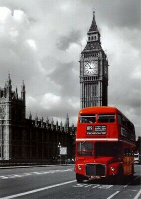 Big Ben London Red Bus Wall Art Giant Poster - A5 A4 A3 A2 A1 HUGE Sizes