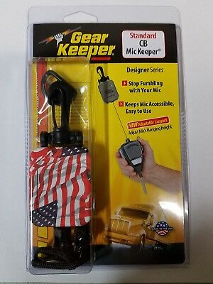 "Gear Keeper Flag Stars n Stripes RT2-4212 28"" Retractable CB Microphone Hanger"
