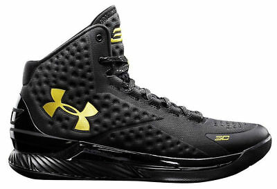 79ba8ae669f4 Under Armour Stephen Curry One 1 Gold Banner Size 11.5 dub nation steph  warriors