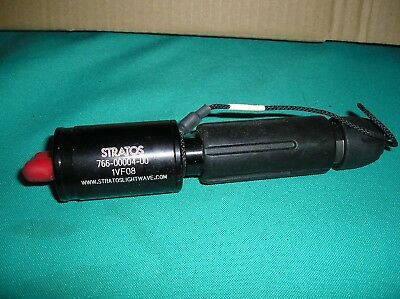 Stratos Lightwave  766-00004-00 , 1VF08  expanded beam fiber optic connector