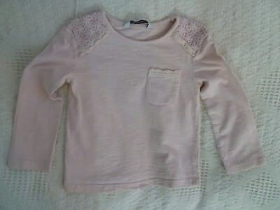 baby clothes GIRL 12-18m pretty pink,lace long sleeve summer cotton top SEE SHOP