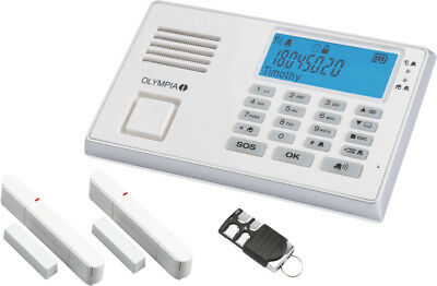 Olympia Protect 9035 GSM Alarmanlage mit Fernbedienung Weiss