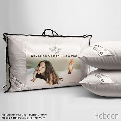 Egyptian Cotton Pillow Luxury Hollowfibre Filling Bed Hotel Quality Pack 2 4 8