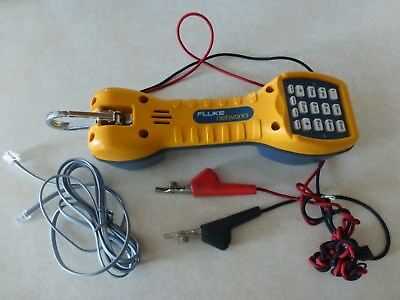 Fluke Networks TS30 Telephone Lineman Test Set With Angled Bed-of-Nails Clip