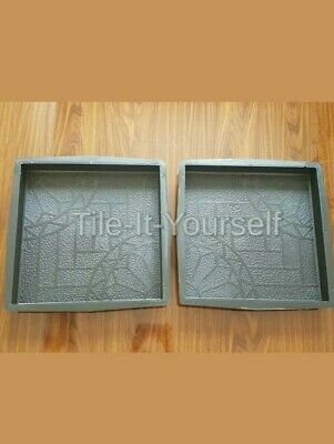 2 Pcs Driveway Paving Patio Concrete Slabs Path Garden Walk Mould