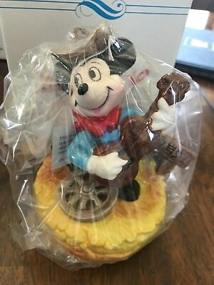 Schmid Walt Disney Music Box Series Minnie, Mickey, Donald Duck, Daisy NEW NIB