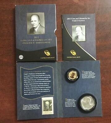 2015  Dwight D. Eisenhower Coin And Chronicles Set