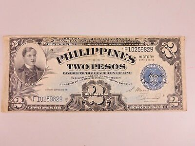 Two Pesos Philippines Victory Series No 66 Note F10259829