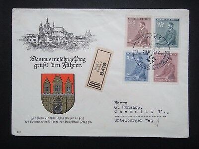 Germany Nazi 1941 1942 Stamps Used Hitler Third Reich German Bohemia & Moravia B