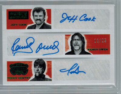2014 Alabama Cook / Owen / Gentry Panini Country Triple Auto Signature #ed 11/25