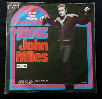 """7"""" Vinyl / Single - JOHN MILES - MUSIC/PUTTING MY NEW SONG TOGETHER (GER '76)"""