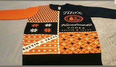 NEW RARE Tito's  Handmade Vodka Christmas Sweater unisex xxl + doggy sweater