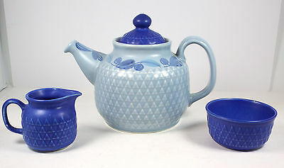 VTG Stavangerflint Norway Lidded Teapot / Sugar Bowl / Creamer Set #2465