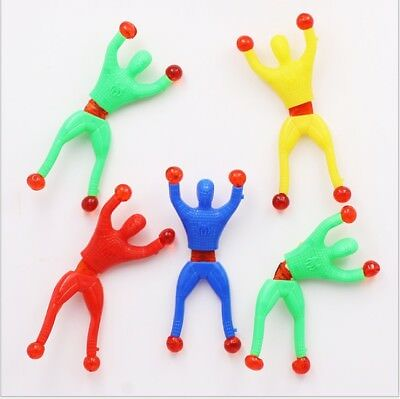 Sticky Wall Climbing Flip Rolling Men Climber Spiderman Kids Toy Favors