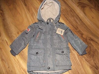 Mothercare Borg Lined Boys Clothes - Grey Jacket Age 3 - 6 months