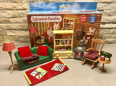 sylvanian families cosy living room set sylvanian families boxed flair discontinued hamster baby 24739