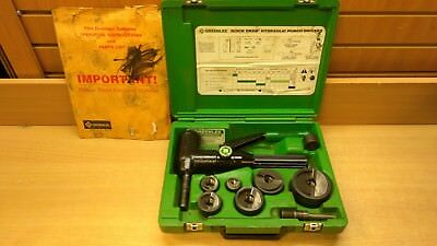 "Greenlee 7906Sb Quick Draw 90 Hydraulic Knockout Punch Set 1/2"" To 2""   *d"