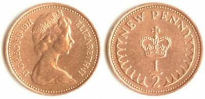 1971 Elizabeth II Decimal 1/2 Penny Very Good Condition Great British Coin Hunt
