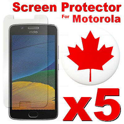 5 PACK Tempered Glass Screen Protector For Motorola Moto G5 G4 Plus E4 Z2 X Play