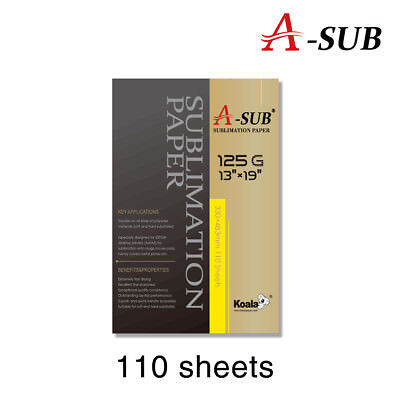 "A-SUB Sublimation Heat transfer Paper 13""x19"",110 sheet, for inkjet printer"