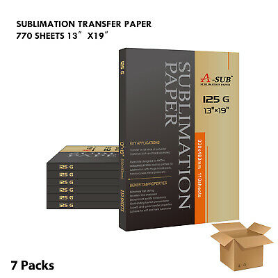 "A-SUB Sublimation Heat transfer Paper 13""x19"",660 sheet, for all inkjet printer"