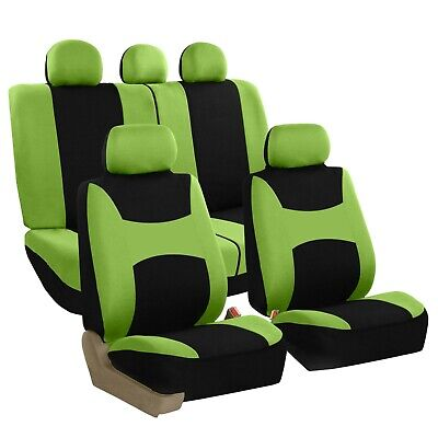 Car Seat Covers for Auto Sedan SUV Truck Van Full Set 5 Headrests Green