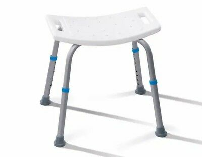 New Aluminium Bath Shower Seat Stool Bench Adjustable Height Disability Aid