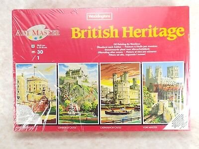 Waddingtons Oil Painting By Numbers British Heritage 4 in 1 Pack 1992 22871