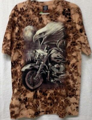 Harley-Davidson MotorBike image Eagle Short sleeve T-dyed 100% cotton XL