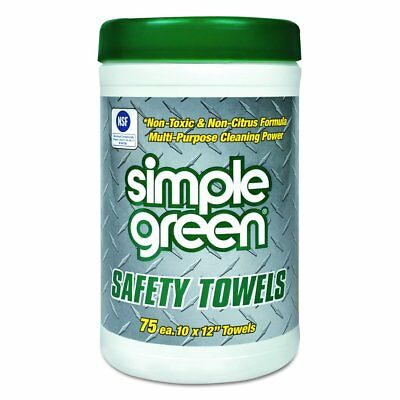 Simple Green 13351 Lint Free Polypropelyne Industrial Safety Towel Canister, 75