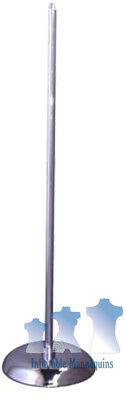 """MS1 - Mannequin Stand, 36"""" Upright, Chrome 10"""" Base"""