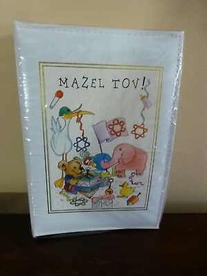 New MAZEL TOV Photo Album for Baby Hand Painted Graphics 4x6 photos