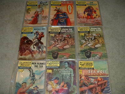 Lot of 9 Classics Illustrated Comics-GOOD Condition