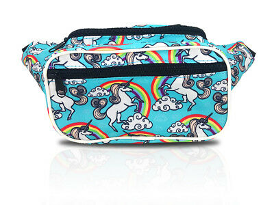 Rainbow Unicorn Fanny Pack / Colorful Waist Bag For Girls And Boys / Retro 80's
