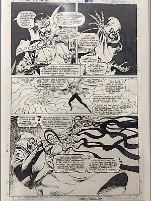 Dr Strange original art panel page Death Isherwood