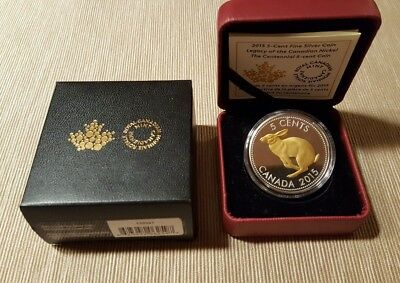 2015 Canada Legacy of the Canadian Nickel The Centennial Silver Proof Coin