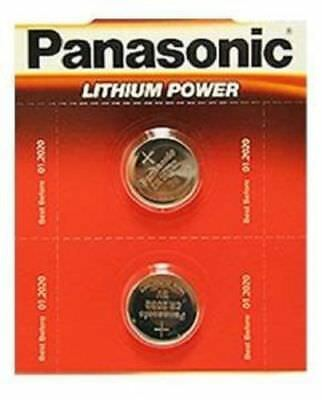 Pack Of 2 Panasonic CR2032 Lithium Coin Cell 3V Battery Car Key Fobs Toys Remote