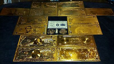 HUGE22Pc.LOT~COINS/FOSSIL/7GOLD.BANKNOTES/U.S&WORLD/3SILVER BARS/CHARM☆