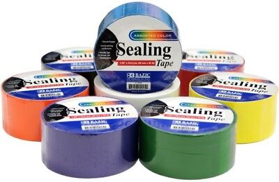Assorted Color Sealing/Packing Tape Case Pack 48
