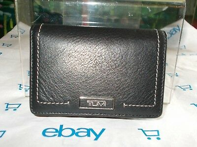 TUMI Parker SLG Small Card Case Black Leather New With Tag MSRP: $85