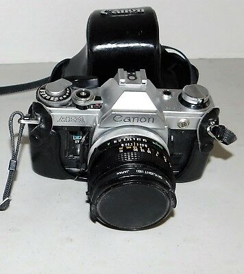 Canon AE-1 35mm SLR Film Camera with 50mm Canon Lens
