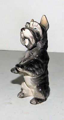 Schnauzer Hand Decorated made in Japan vintage ceramic figurine 4.5""