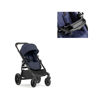 Baby Jogger City Select LUX Stroller Indigo (Navy) and Child Tray NEW NIB