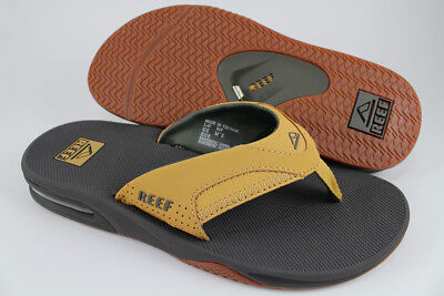 b83a80964783 Reef Fanning Charcoal Gray tan Beige Brown Flip Flops Thong Sandals Us Men  Sizes