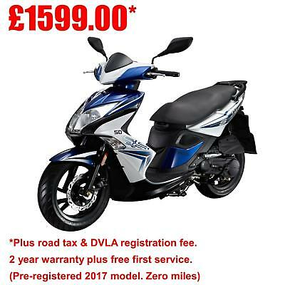 Kymco Super 8 50 - 2-stroke 50cc Automatic moped scooter