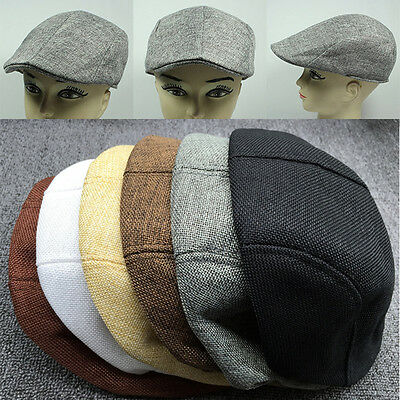6a465785a39960 Summer Peaked Beret Flax Cap Country Outdoors Golf Hat Fashion Cabbie Unisex