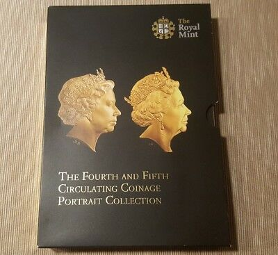 UK Royal Mint The Fourth and Fifth Circulating Coinage Portrait Collection -Full