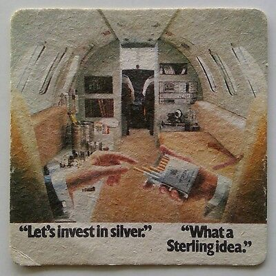 Sterling Cigs Let's invest in silver What a Sterling idea Coaster (B272-12)