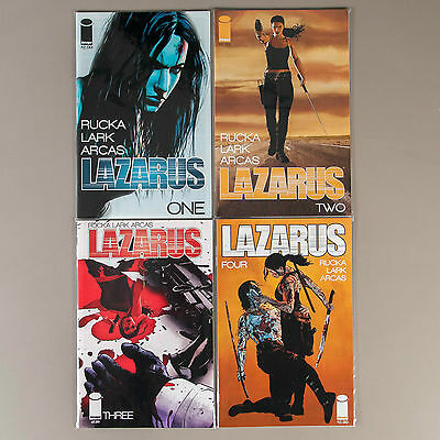 Lazarus #1-4, Full Run, Lot of 4 Greg Rucka / Michael Lark comics, comp. VF set